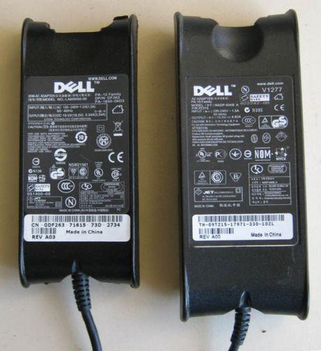Оригинальный и поддельный БП для DELL
